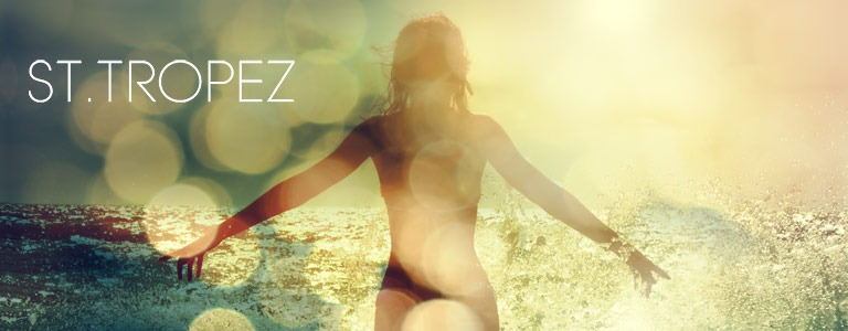 St Tropez Spray Tanning - Woman Enjoying Sea Waves background
