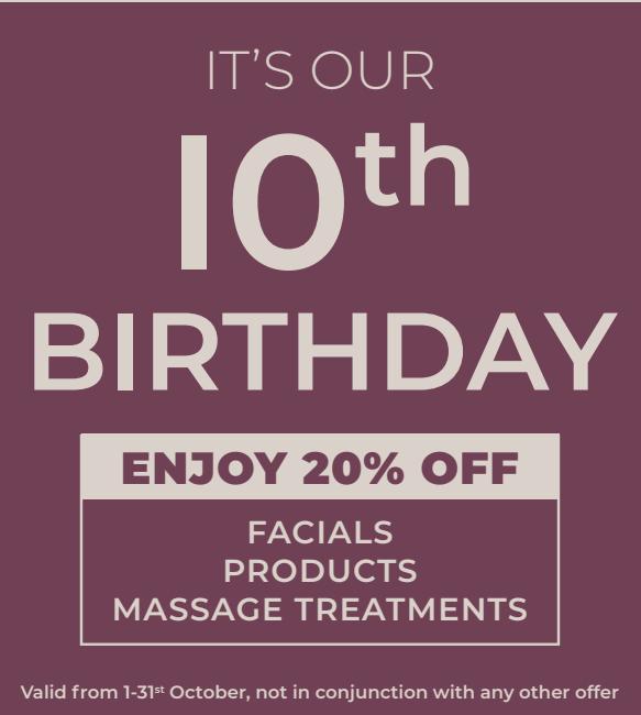 OUR 20% OFF BIRTHDAY CELEBRATION!